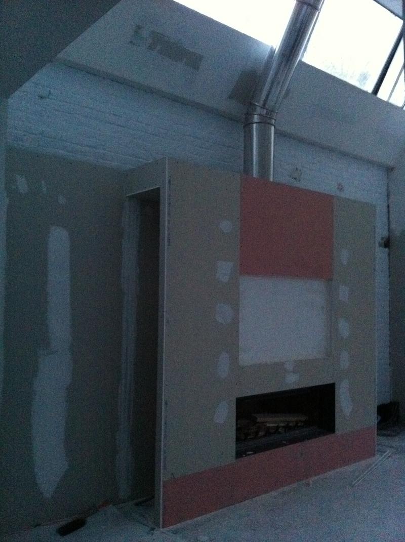 le loft d barass et placo chemin e. Black Bedroom Furniture Sets. Home Design Ideas